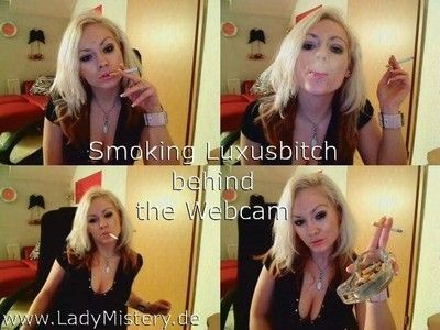 Mistress makes money through sexy smoking